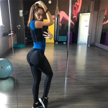 shiny gym leggings