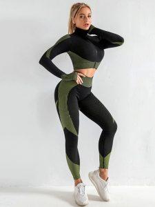 leggings & shirt- seamless gym leggings