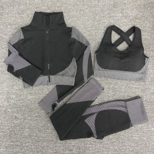 Gym Leggings with Abdomen Belt
