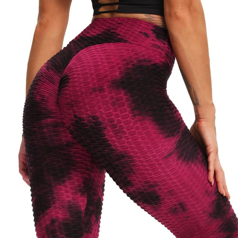 Embossed Pattern Gym Leggings